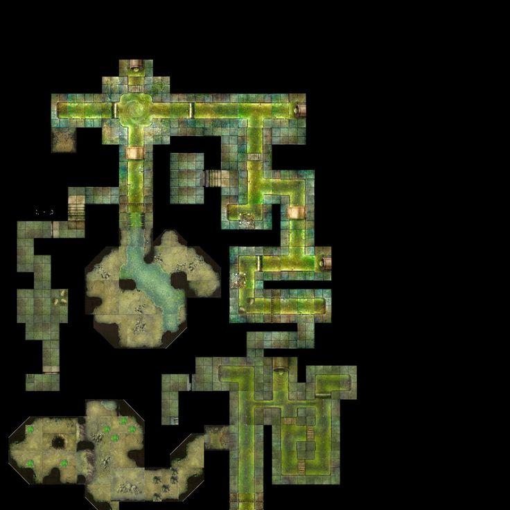 Sewer Battlemap Hex The Last King Of Shambhala Pinterest