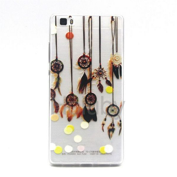 Colored Painting Ultrathin Soft TPU Back Case for Huawei Ascend P8 Lite - Pendants