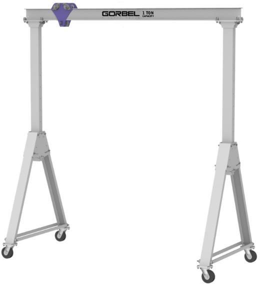 Gorbel S Adjustable Height Aluminum Gantry Crane