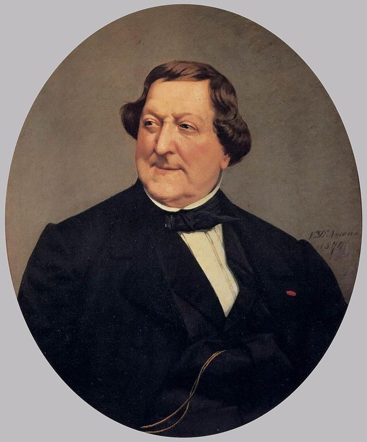 Vito d' Ancona - Portrait of Gioacchino Rossini 1874, oil on canvas. Ptti Palace, Florence, Italy. Wikiwand