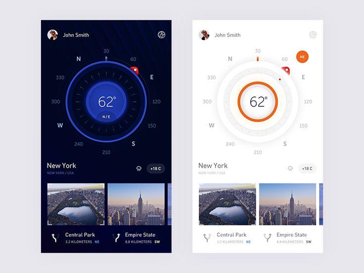 Compass app by Renat Muratshin  #Design Popular #Dribbble #shots