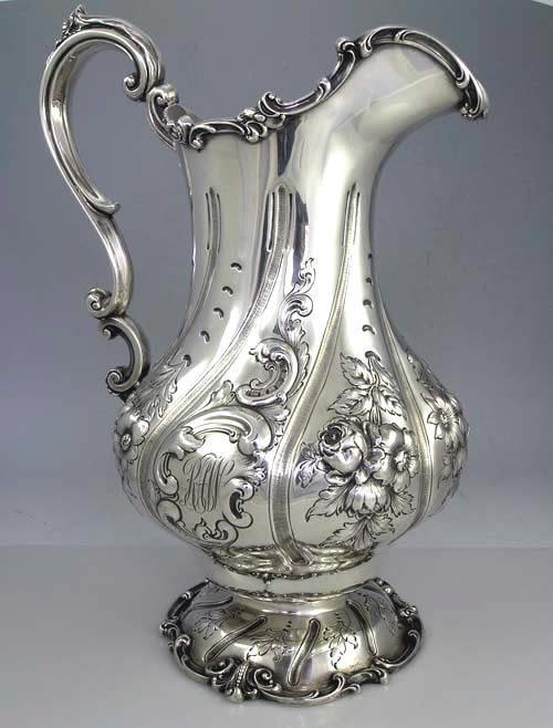 gorham large sterling pitcher