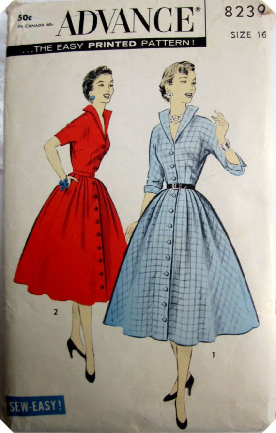 Vintage 1950s Advance 8239 Misses Dress by Denisecraft on Etsy, $19.99