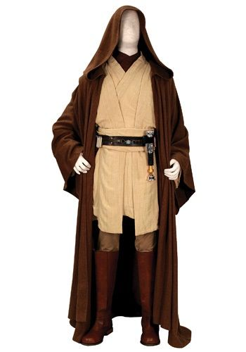 Wearing this replica Obi Wan Kenobi costume won't give you instant access to the Jedi Council, but seeing as it's an official Star Wars outfit, then might be willing to let you sit in on a session.