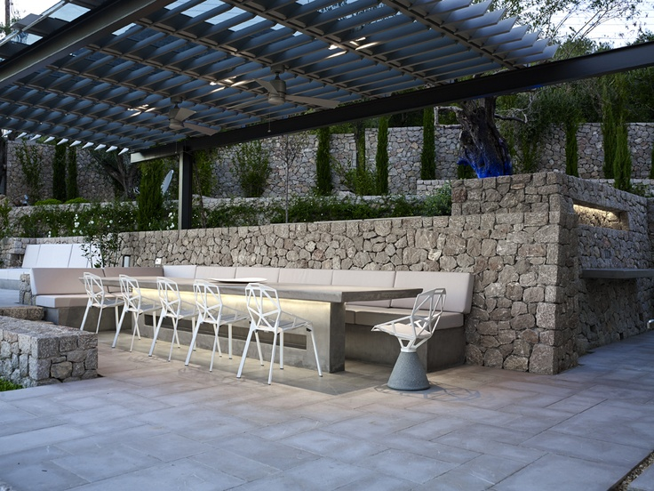 : Gardens Ideas, Outdoor Ideas, Home Ideas, Concrete Stones, Exterior Ideas, Cool Ideas, Stones Patio
