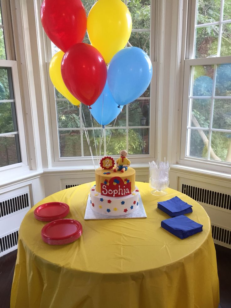 Caillou birthday party! :)