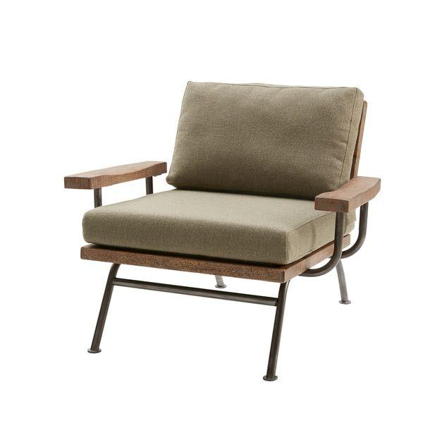 Renu Taupe Brown Lounge Chair
