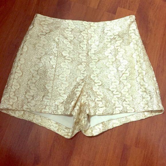 Glitter Shorts Gold glitter shorts. Worn once. No trades! Love Culture Shorts