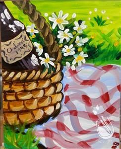 """""""Michigan Picnic"""" on Tuesday, 5/26/15, from 7-9 p.m. with Angelina. Sign up here at: http://paintingwithatwist.com/events/viewevent.aspx?eventID=426424"""