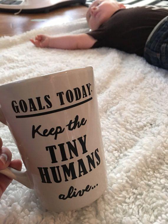 Teachers Tiny Humans Vinyl Mug by hopelesswanderer8 on Etsy