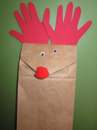 Eight free crafts for children during Holiday in the Grove, including this reindeer paper-bag puppet | OregonLive.com