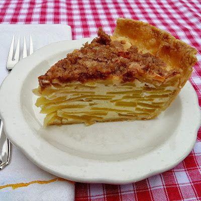 Sour Cream Apple Pie.   Fancy recipes   Pinterest