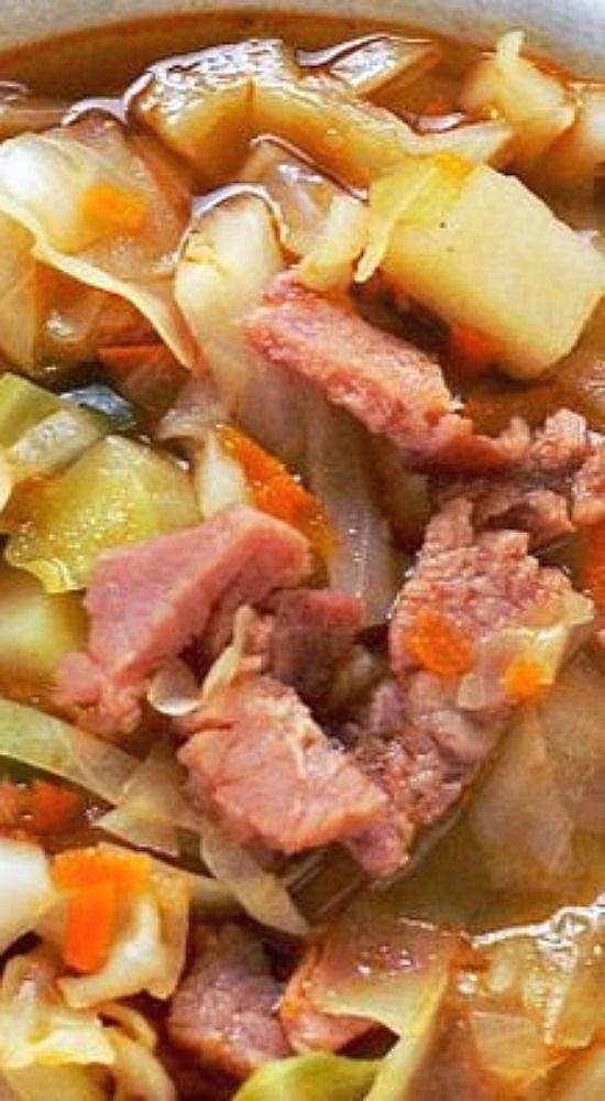 Ham & Cabbage Soup.