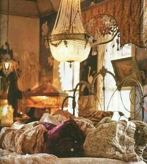 Vintage Bohemian bedroom