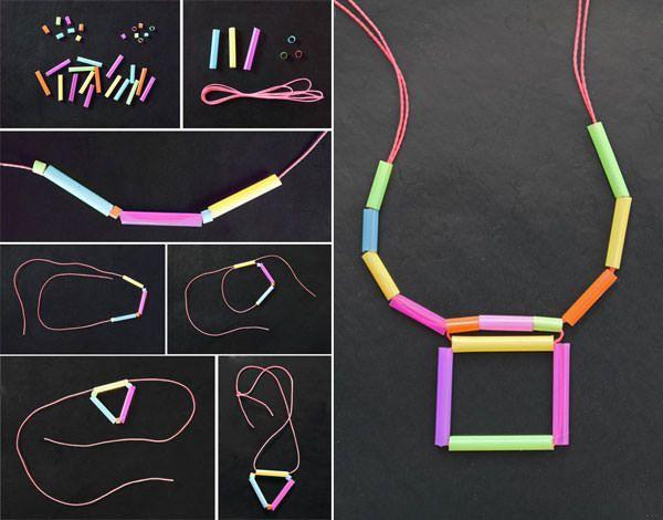 Collane create concannucce e filo