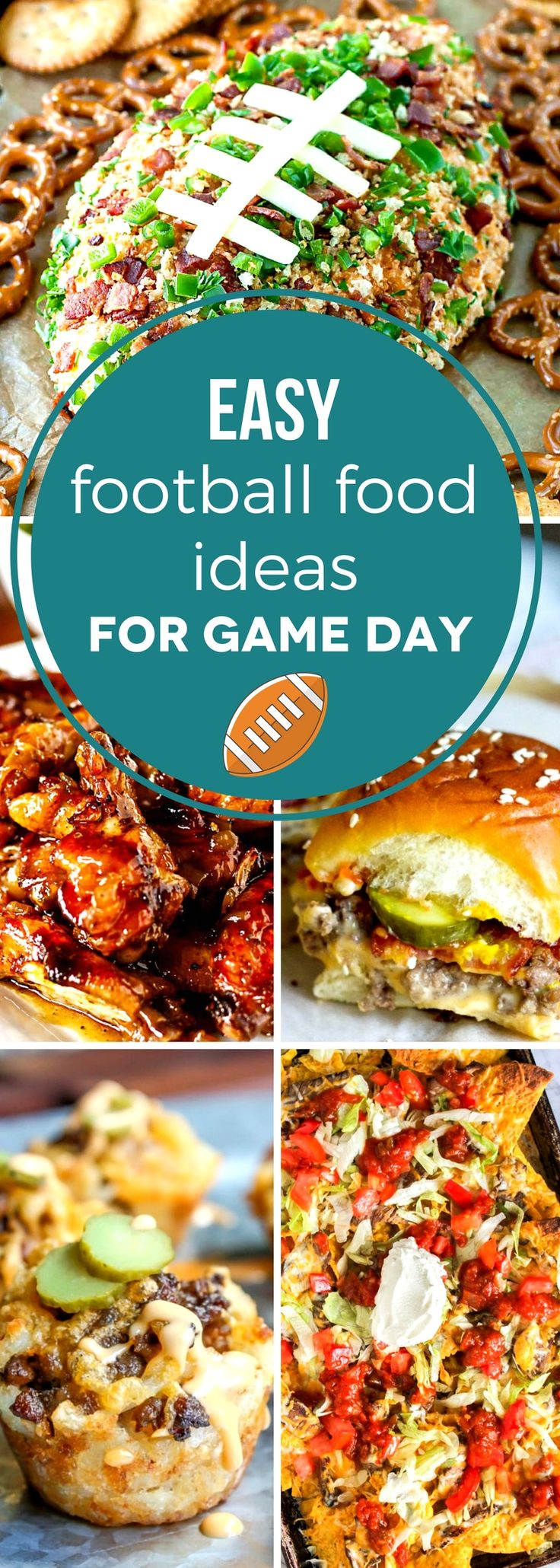 Get game day ready with these easy football food ideas for game day! Don't spend all your time in the kitchen and miss the big game. With over 30 deliciously easy recipes, you're guaranteed to find the perfect game day food for your party, big or small! #SundaySupper #tailgating #footballfood #gamedayfood #fingerfood