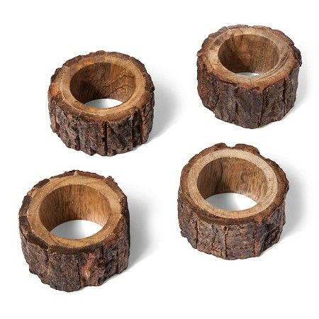 Threshold™ Wood Napkin Ring, Set of 4