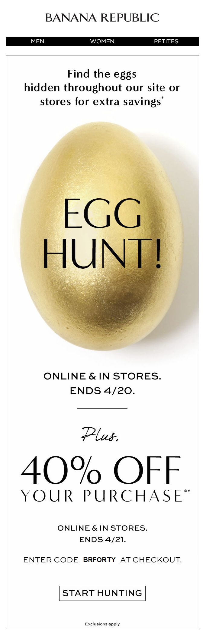 Hurry—our egg hunt is almost over! | Awesome Screenshot, newsletter, email design