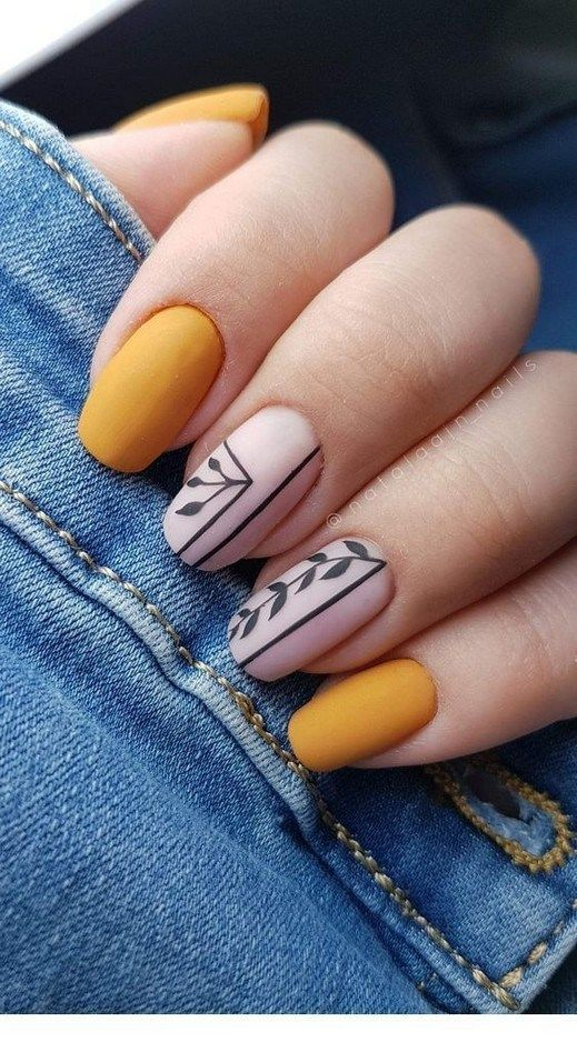 38 Nail Designs and Ideas for Coffin Acrylic Nails #coffin #nailart #coffincolor…