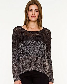 Ombré Crew Neck Sweater from Le Chateau. #Ottawa #GoBillings #Fashion #BackToSchool