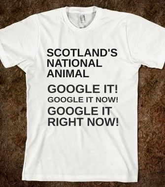SCOTLAND'S NATIONAL ANIMAL - glamfoxx.com - Skreened T-shirts, Organic Shirts, Hoodies, Kids Tees, Baby One-Pieces and Tote Bags