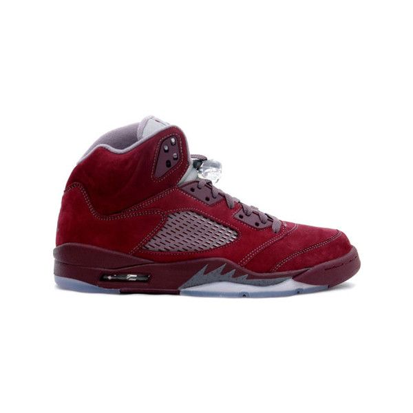Air Jordan 5 (V) Retro Deep Burgundy Light Graphite Silver ❤ liked on  Polyvore