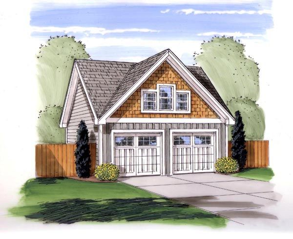 Traditional Style 2 Car Garage Plan Number 44152 For The