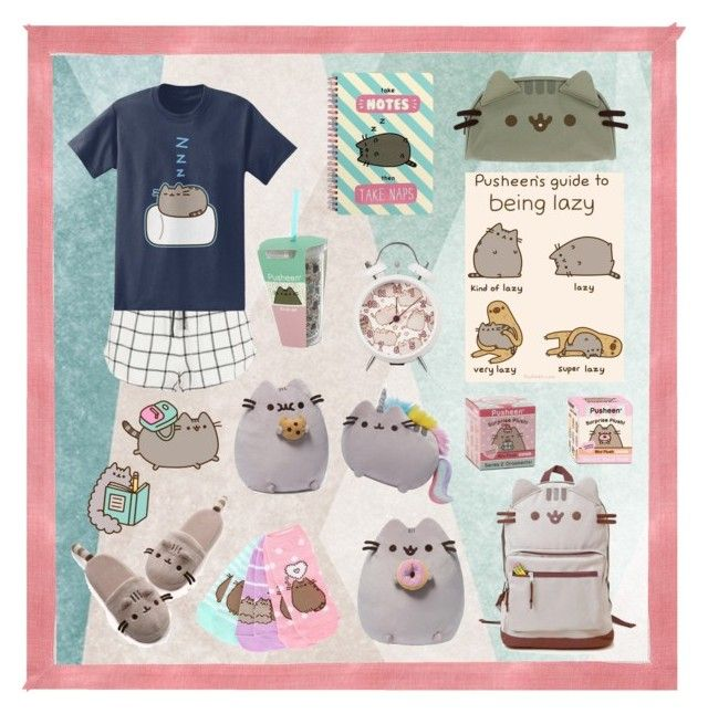 Pusheen! =^.^= by justonebadday on Polyvore