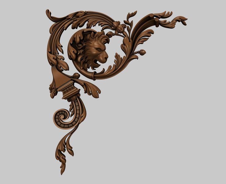 Угловой декор 3D-модели для ЧПУ / 3D-models for CNC / stlforcnc@yandex.ru