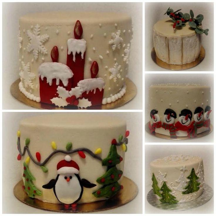 Small christmas cakes by Anka