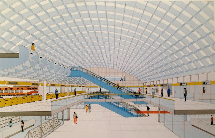 Project of Milan Cardona Ferrovie Nord Station, by Vittorio Gregotti, Angelo…