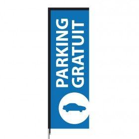 Voiles et banderoles imprimées modèle Parking gratuit