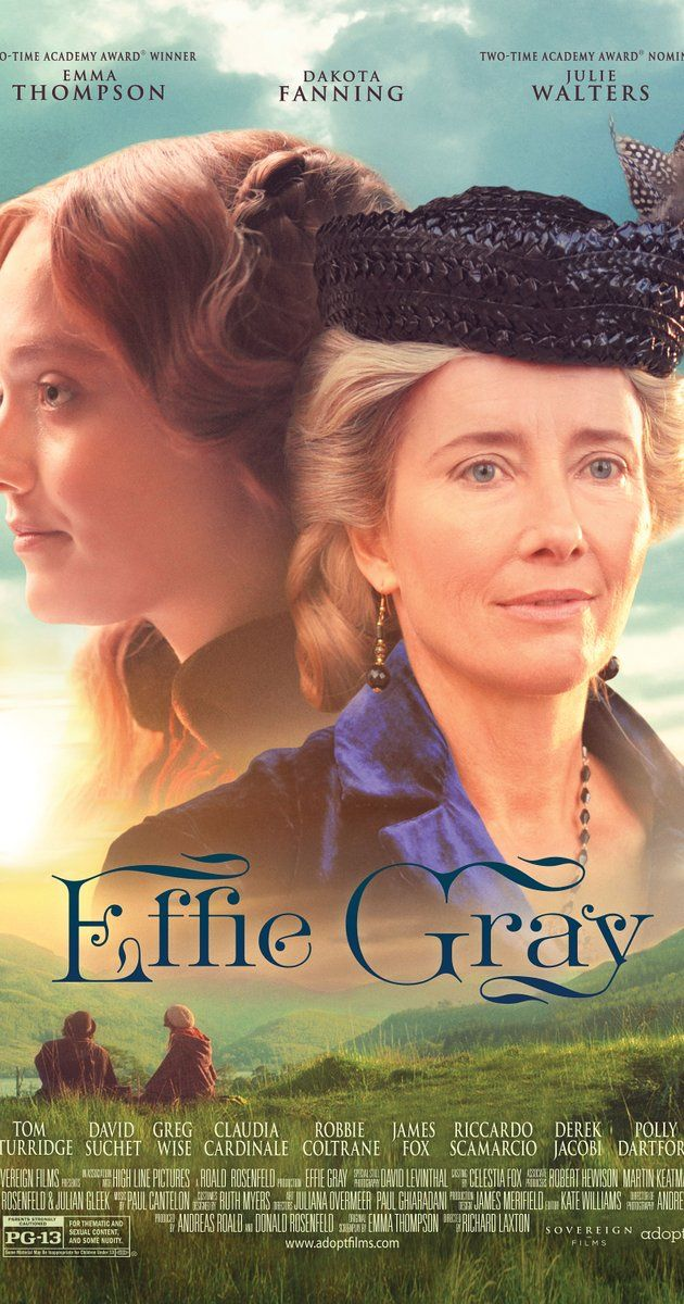 Effie Gray (2014) A look at the scandalous love triangle between Victorian art critic John Ruskin, his teenage bride Effie Gray, and Pre-Raphaelite painter John Everett Millais. Director: Richard Laxton Writer: Emma Thompson Stars: Dakota Fanning, Greg Wise, Tom Sturridge