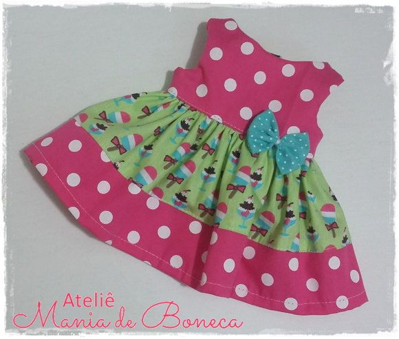 Dress for Baby Alive 14' by AtelieManiadeBoneca on Etsy