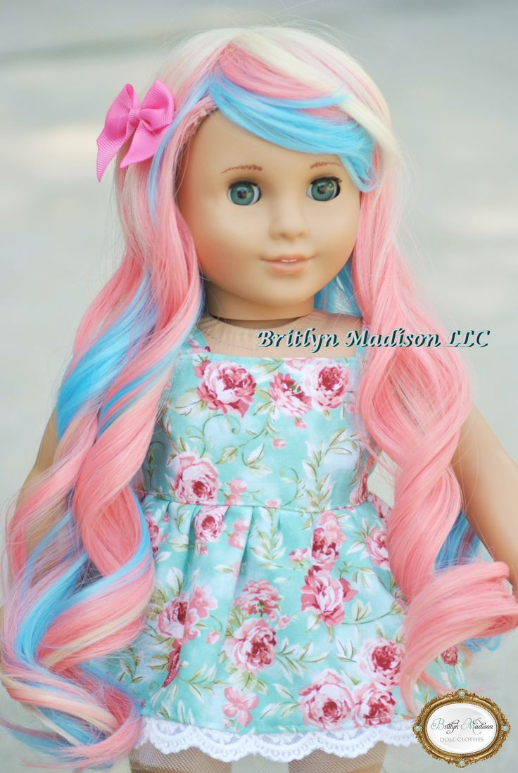 Custom Marie Grace with Pastel Pink, blue and cream wig.  Exclusive to Britlyn Madison.  his doll will be available for sale the end of October 2015.  Please visit our instagram for the release date.