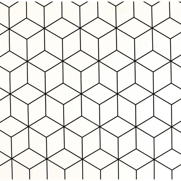 Housse De Coussin Max Blanc Avec Motif En Noir Ca 40x40cm En 2020 Fond Noir Et Blanc Motif Geometrique Dessin Geometrique