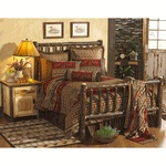 Hickory Traditional Log Bedroom Furniture Collection Queen $1399.