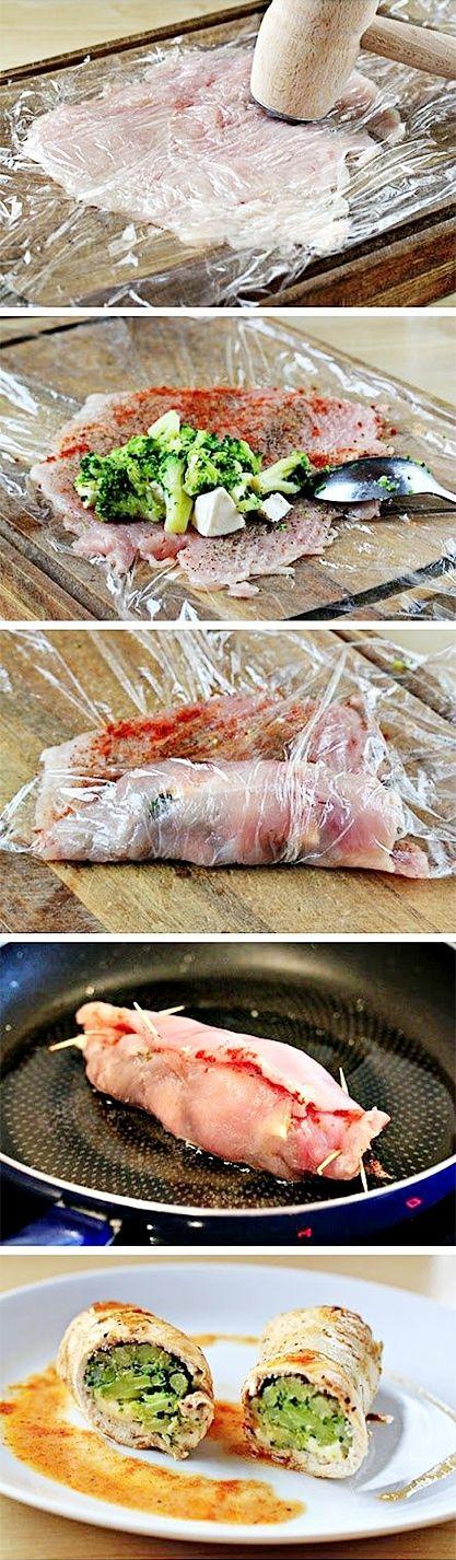 Kuřecí rolky plněné brokolicí a sýrem - DIETA.CZ