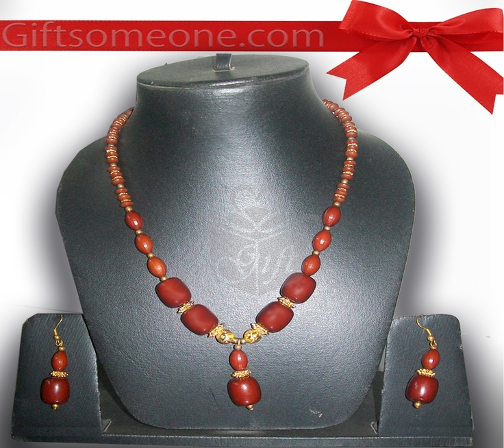 Rs.770.00 / $13.86 Shipping Charges Free Shipping To India(IND) Product Details  Trendy and contemporary jewelry/ jewellery set which will enhance your personality. http://www.giftsomeone.com/product_info.php?products_id=3660