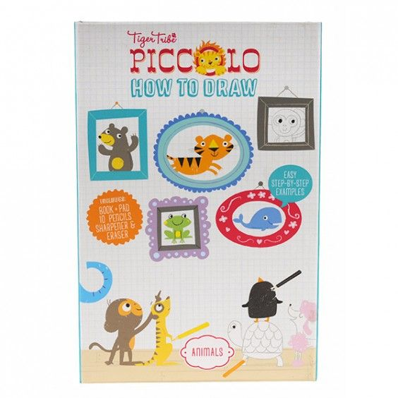Tiger Tribe's Piccolo How-to-Draw Animals Set has very easy step-by-step instructions that will have you #drawing animals like a professional in no time. Everything packs neatly inside an easy-carry hard book so it's a great option for travellers #TigerTribe #traveltoys #Christmas2014