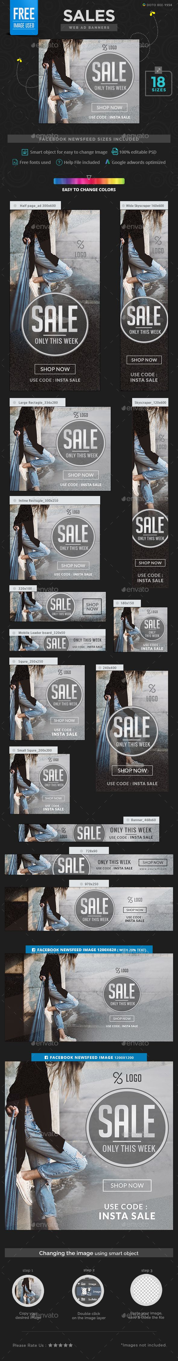 Sales Banners Template PSD. Download here…