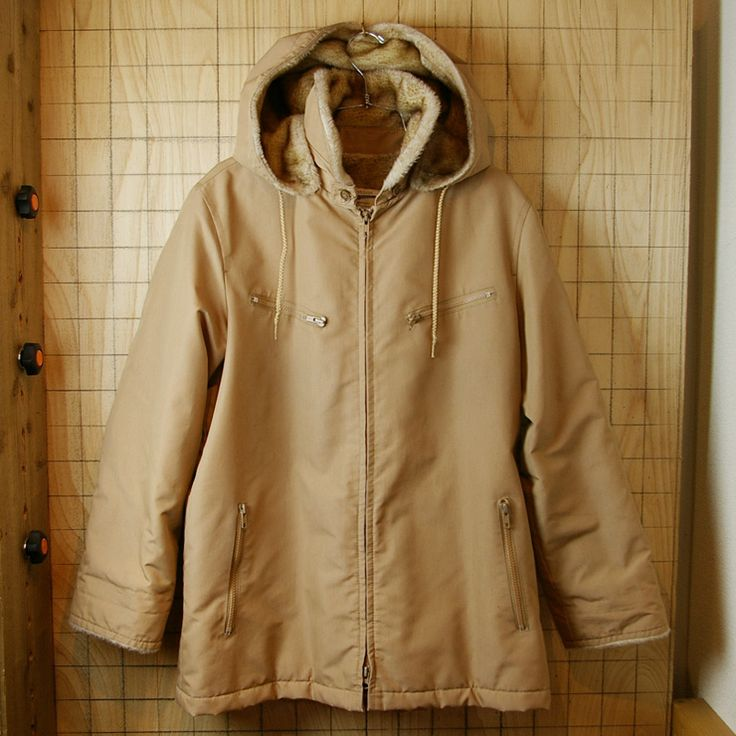 【LONDON FOG】USA製70s古着裏地ボアフード付きジャケット・コート|メンズM相当|ビジネス