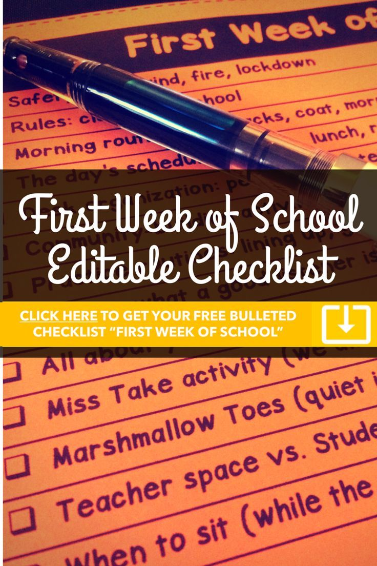 Classroom procedures classroom organization classroom management - Free Editable First Week Of School Bulleted Checklist Find This Pin And More On Classroom Organization