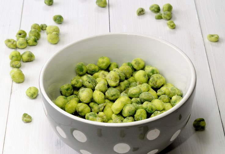 Wasabi peas make a great healthy snack!