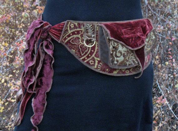Antique red - Festival Pocket Belt - Utility belt - Renaissance Fair - Burlesque. $158.00, via Etsy.