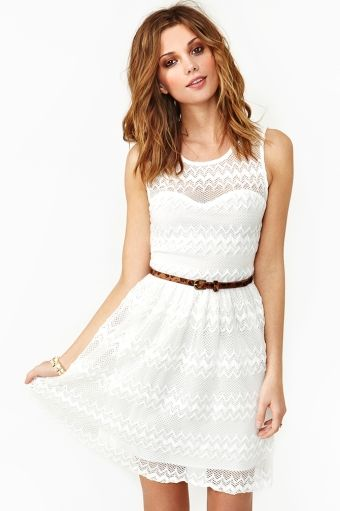 Nasty Gal - New & Vintage Clothing. Cute white dress.