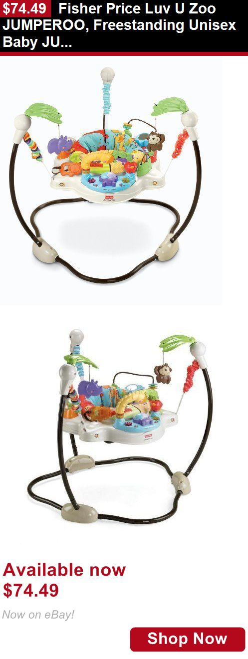Baby bouncers and vibrating chairs: Fisher Price Luv U Zoo Jumperoo, Freestanding Unisex Baby Jumper, V0206 BUY IT NOW ONLY: $74.49