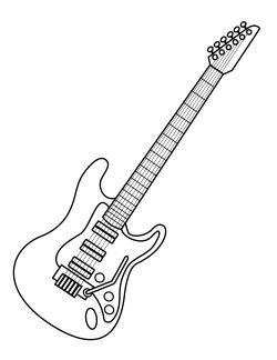printable coloring pages guitar - photo#46