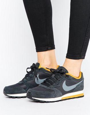 Nike MD Runner Sneakers In Dark Grey