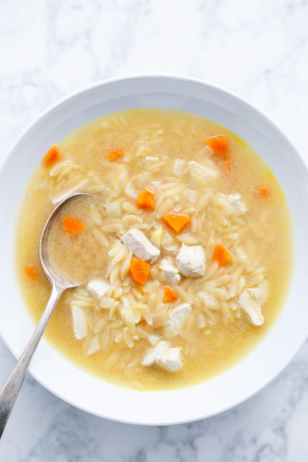 orzo lemon chicken soup